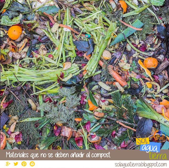 Que materiales no poner en la pila de compost