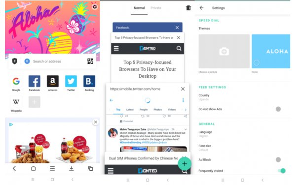 best browser with VPN for android Aloha