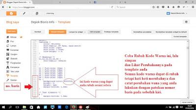 Cara, Edit, Warna, HTML, Kode, Template, Ganti, Info, Blog, Bisnis, Depok, Dengan, Merubah, Pada