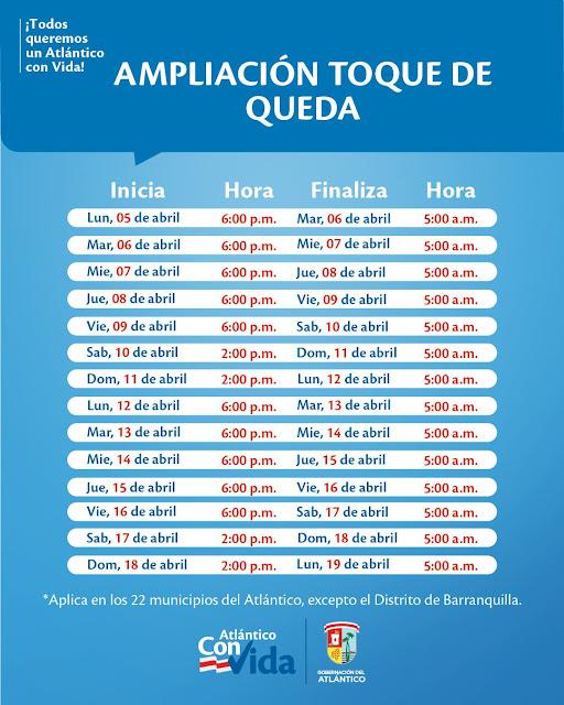 Conozca las medidas restrictivas hasta el próximo 19 de abril en los 22 municipios del Atlántico