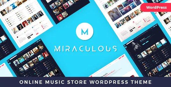 Miracious v1.2 - Chủ đề WordPress cửa hàng âm nhạc trực tuyến