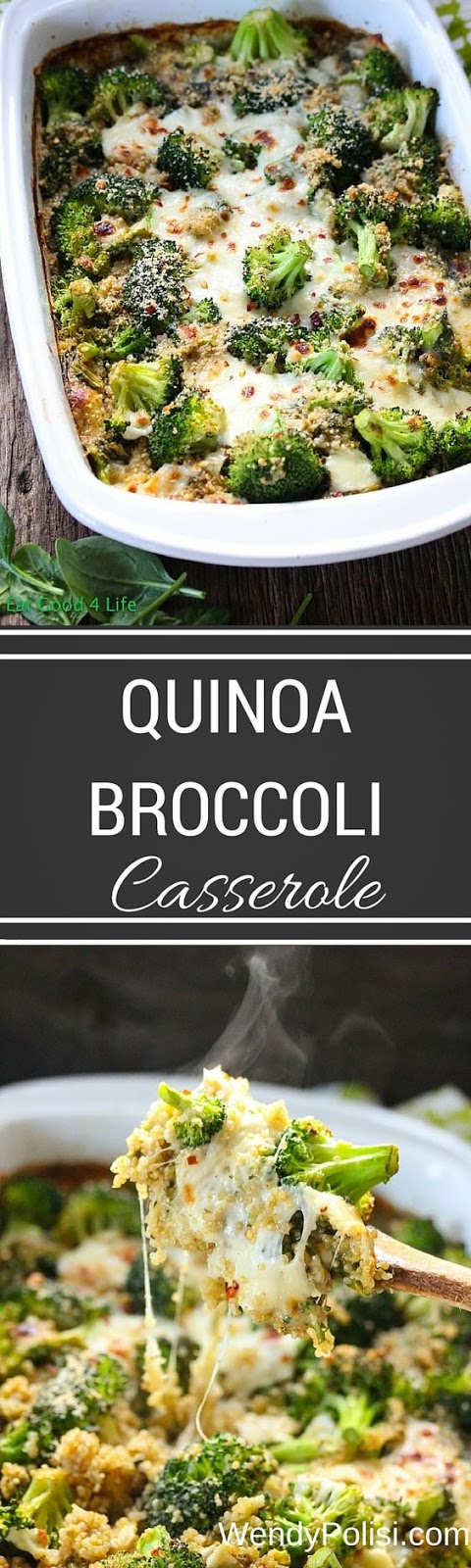 Quinoa Broccoli Casserole, I make something like this as a side but it's not quite enough for a main