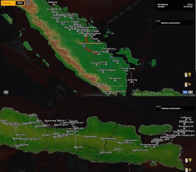 Map SuJaLi (Sumatra Jawa Bali) ETS2 1.41 Convoy