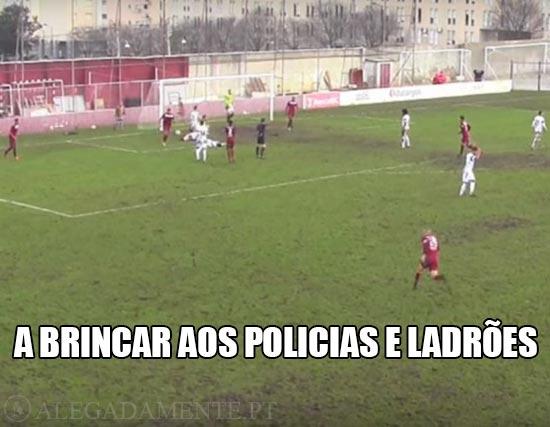 Jogo Oliveirense vs Oriental – A brincar aos Policias e Ladrões
