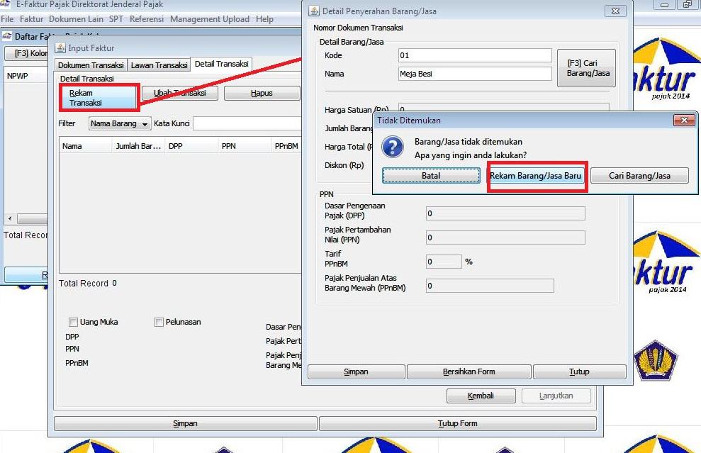 Lengkap Cara Membuat Faktur Pajak Di E Faktur Efaktur Dan Espt