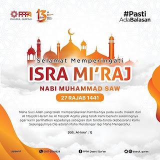 Selamat Memperingati Isra Miraj Nabi Muhammad SAW 27 Rajab 1441 H - Kajian Islam Tarakan