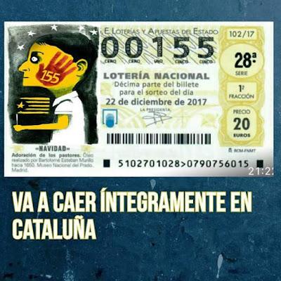 Lotería Nacional, Diciembre,155, billete