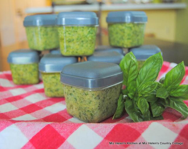 Preserving Sweet Basil Pesto at Miz Helen's Country Cottage