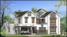 Architecture Kerala 3000 Sq Ft House Elevation