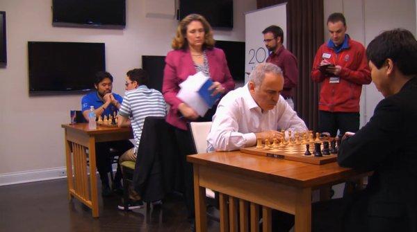 Ronde 1 et victoire de Garry Kasparov face à Wesley So !