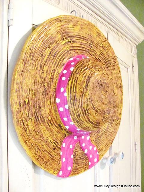 straw hat sculpture