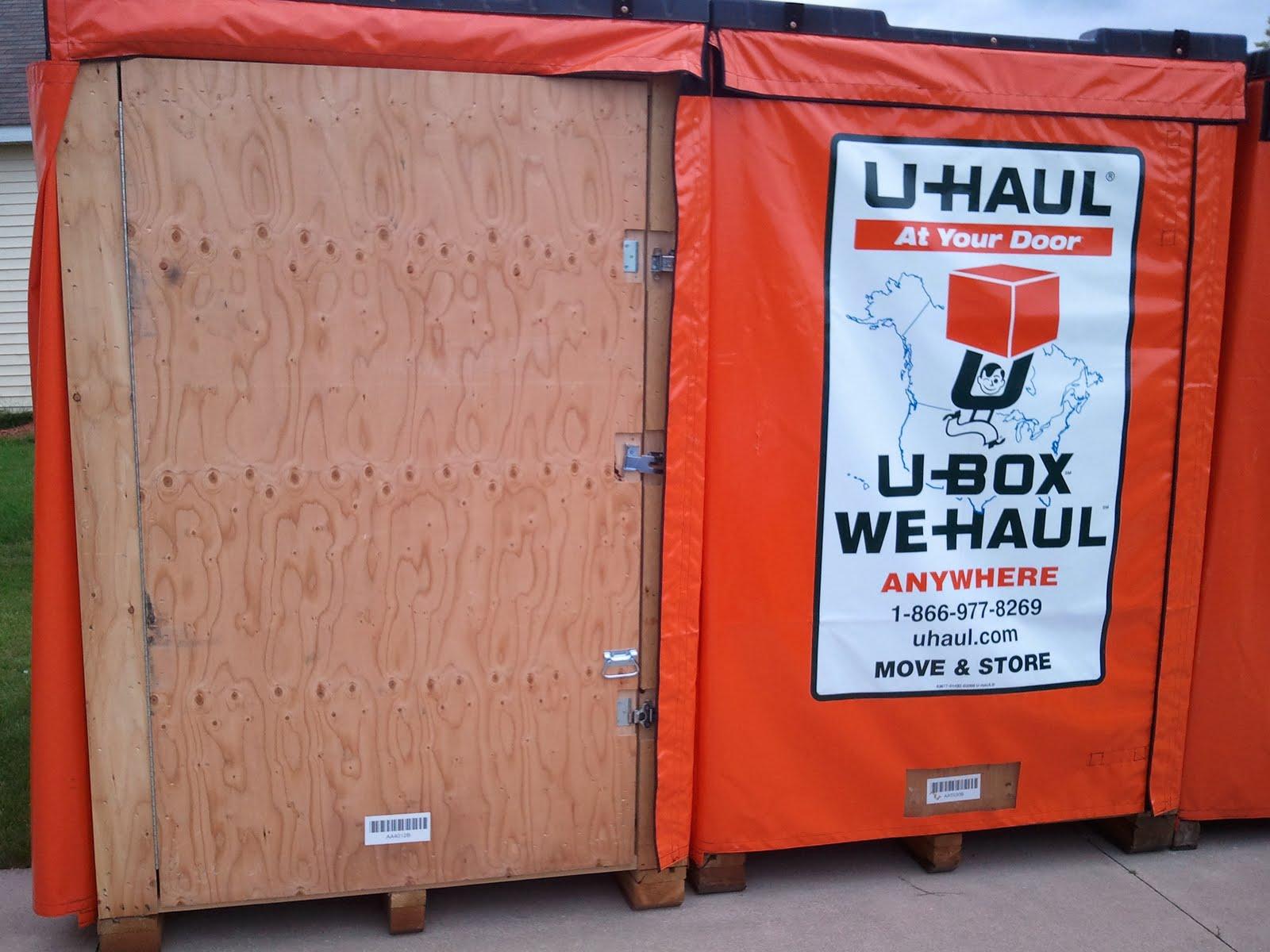 West Michigan Self Storage: U-Haul U-Box Dimensions