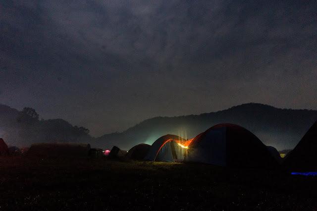 wisata rancaupas malam hari
