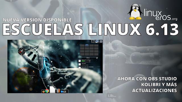 Escuelas Linux 6.13, ahora con OBS Studio y Kolibri