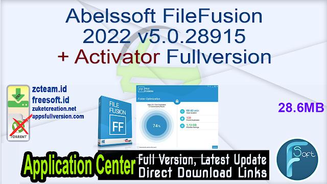Abelssoft FileFusion 2022 v5.0.28915 + Activator Fullversion