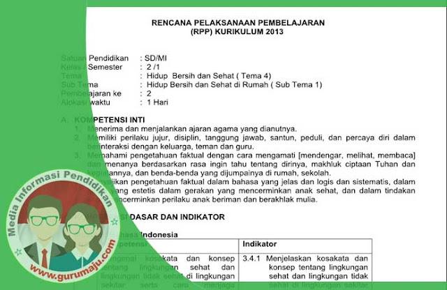 RPP Kurikulum 2013 Kelas 2 Semester 1 Revisi TP. 2018/2019