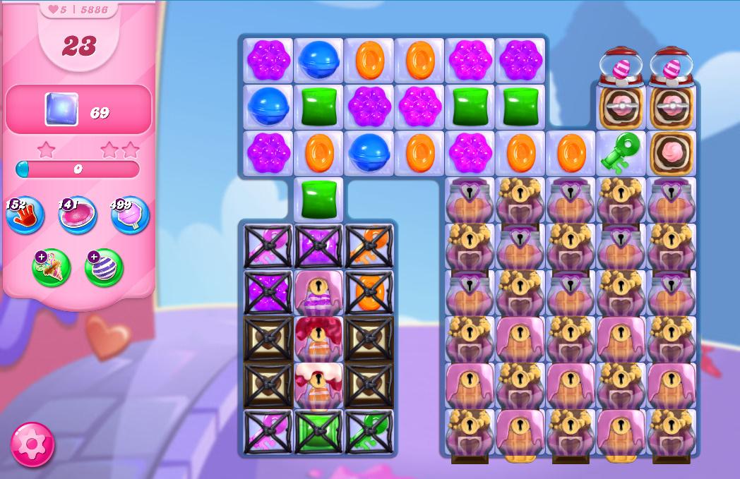 Candy Crush Saga level 5886