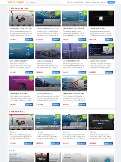 Landing Page dịch vụ kết hợp bán sản phẩm