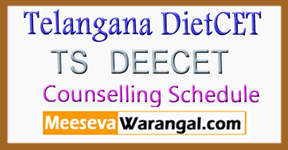 TS DEECET 2018 Counselling Schedule