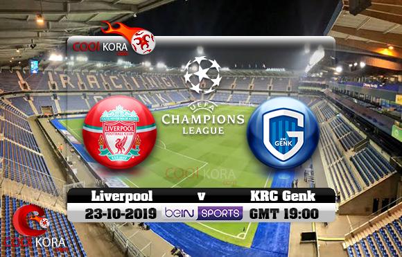 مشاهدة مباراة كي آر سي جينك وليفربول اليوم 23-10-2019 في دوري أبطال أوروبا