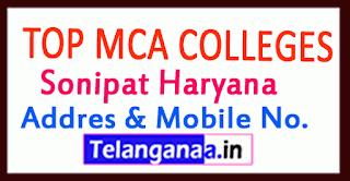 Top MCA Colleges in Sonipat Haryana