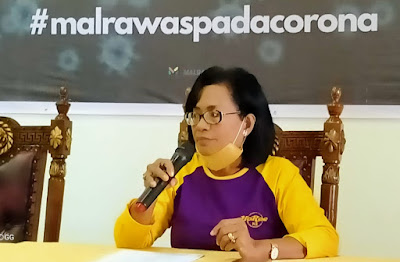 Juru bicara Pemda Malra untuk penanganan covid 19,. dr. Katrinje Notanubun