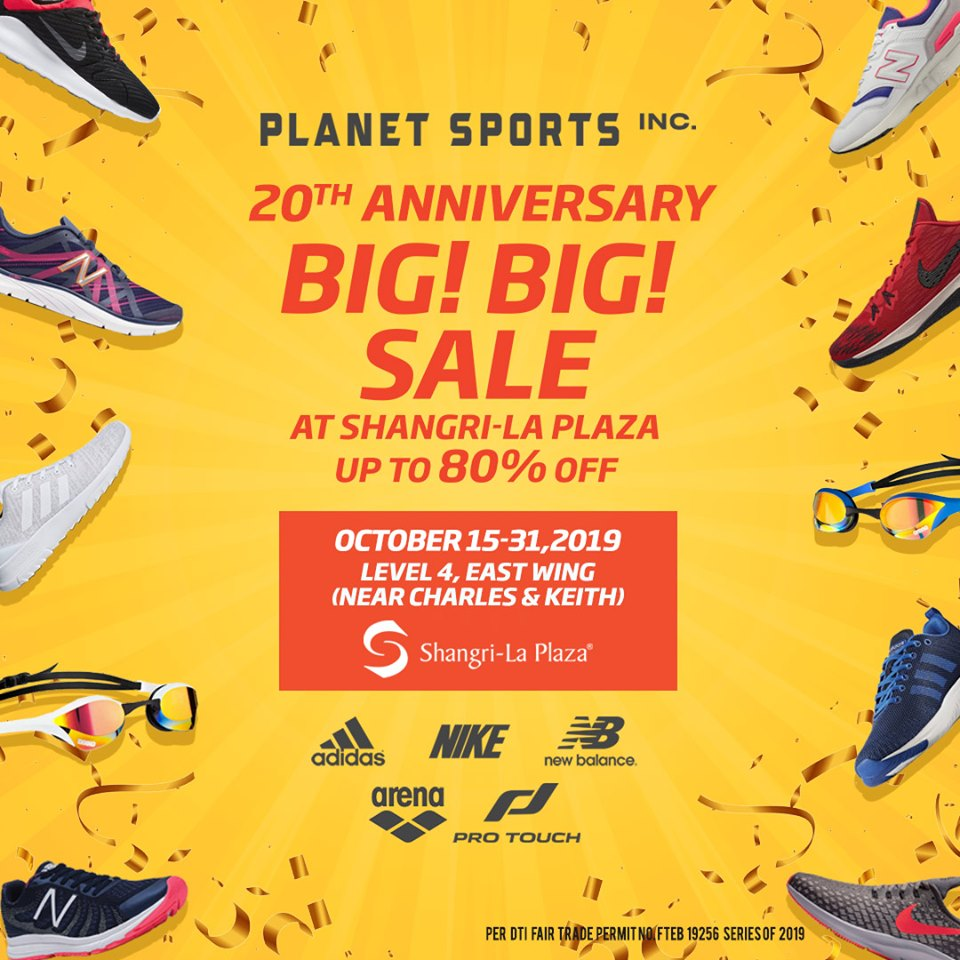 Manila Shopper: Planet Sports 20th Anniv Big Big SALE: Oct ...  Manila Shopper:...