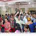 राधा-कृष्ण मंदिरात माता की चौकी कार्यक्रमात भाविक मंत्रमुग्ध