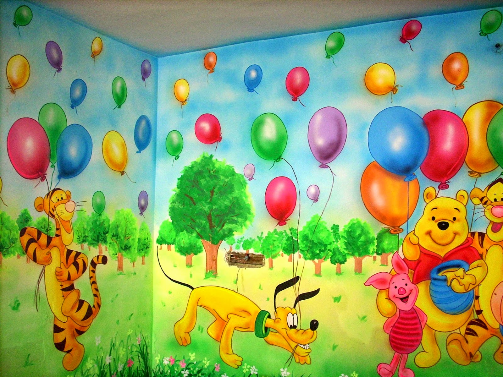 3D CARTOON PAINTING, PLAY SCHOOL WALL PAINTING, SCHOOL ...