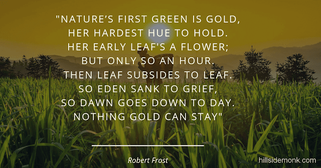 Robert Frost Short Poems-Nothing Gold Can Stay Gold