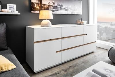 komody Reaction, nábytok v bielej farbe, drevený nábytok