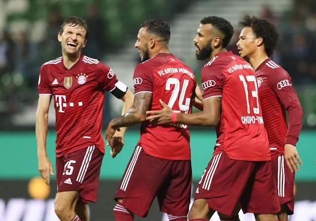 Bayern Munich players during a Germ cup thrashing of fifth tier side Bremer SV