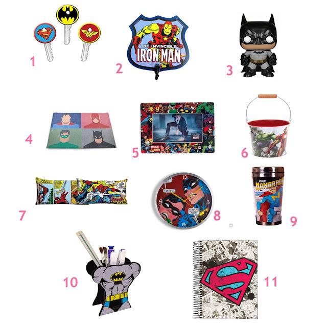 Comprando Produtos de Super Heróis