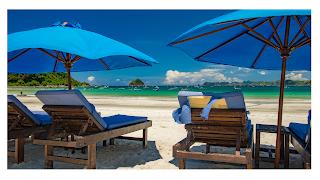 menikmati liburan di pulau lombok