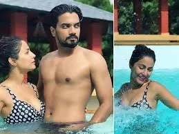Rocky Jaiswal in swimming pool