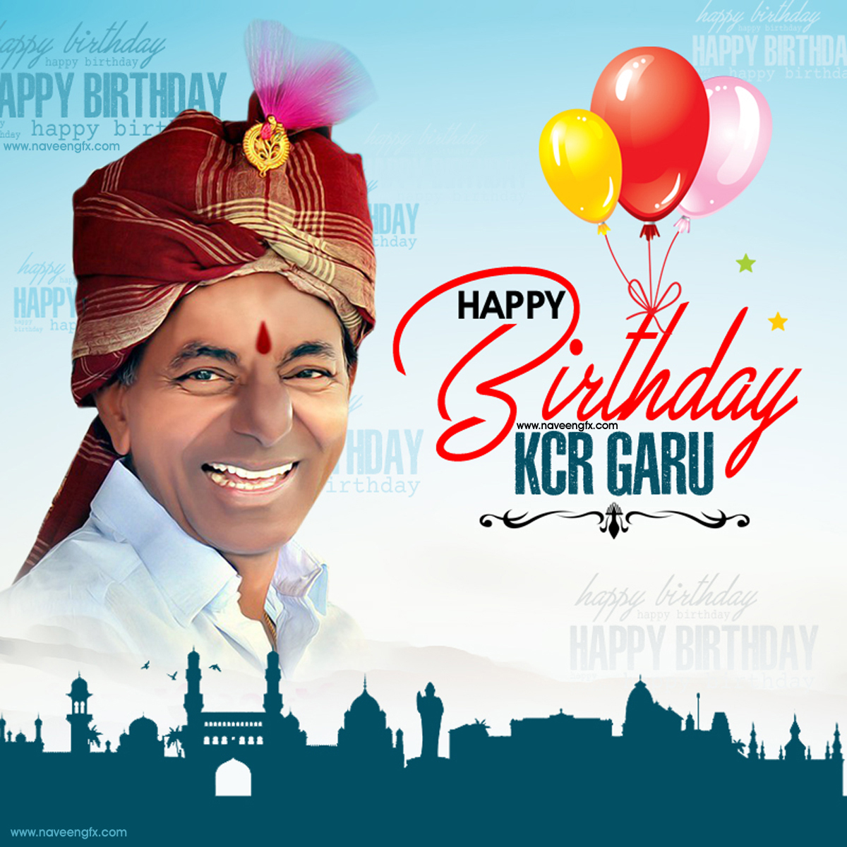 B day poster designs - Kcr Birthday Wishes Greetings Poster Wallpapers Images Photos
