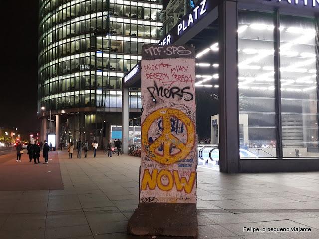 pedaços do Muro de Berlim em Potsdamer Platz, Berlim