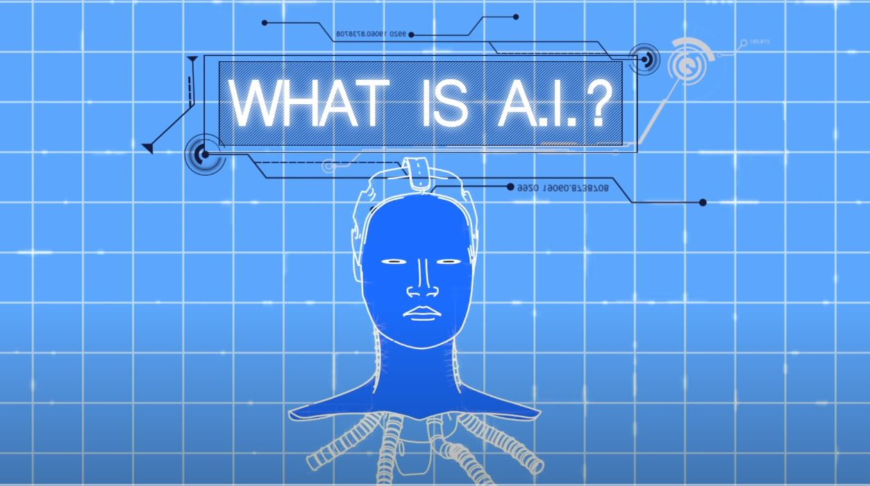 A picture with what it says is artificial intelligence, and artificial intelligence meaning.