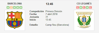 Barcelona vs Leganés en VIVO