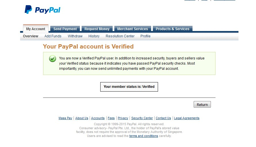 how to know if your paypal is verified