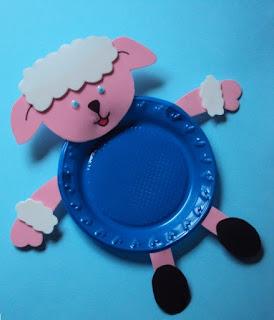 Lembrancinha - prato ovelhinha