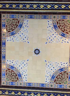 Minton Tiles Ceiling, Bethesda Arcade