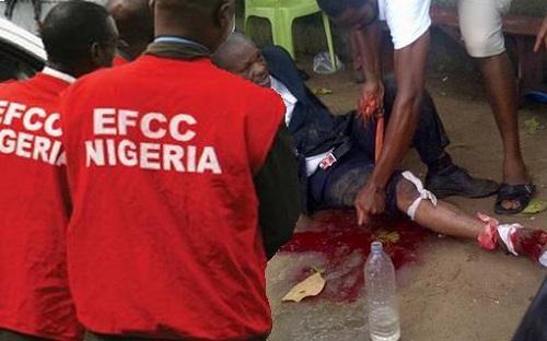 EFCC Investigator Shot