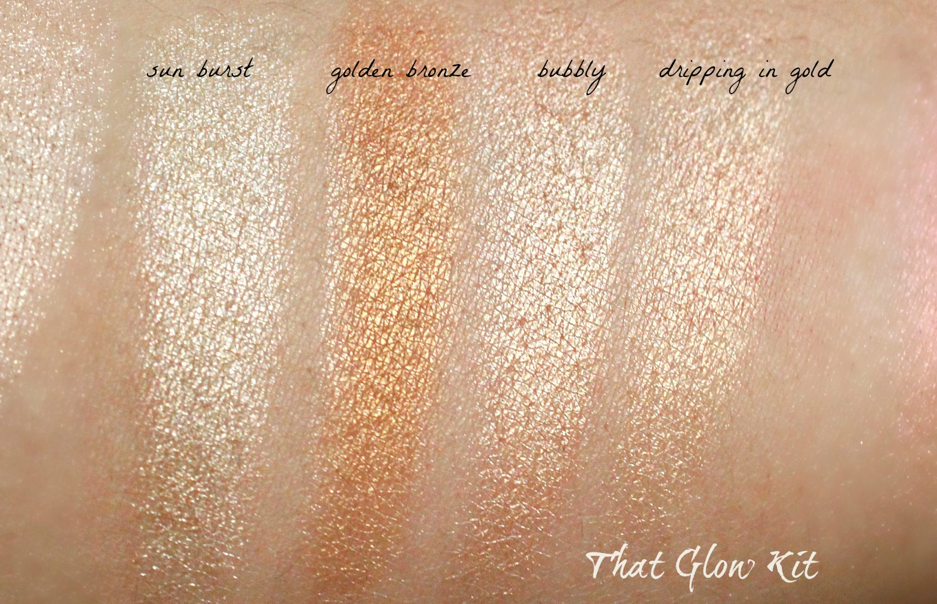 ABH glow kit in that glow review and swatches