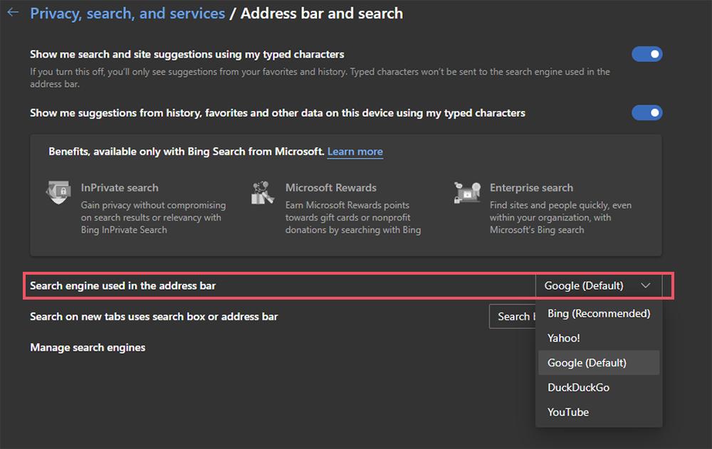 Cara Mengubah Mesin Penelusuruan Ke Google di Microsoft Edge Terbaru 2021