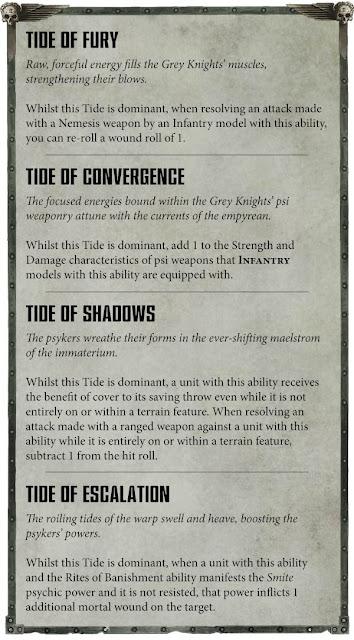Reglas habilidades Caballeros Grises