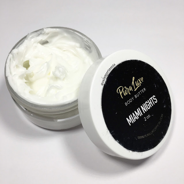 pura luxe body butter in miami nights review