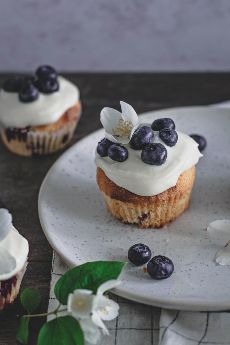 Bild von einem Blaubeer-Cupcake