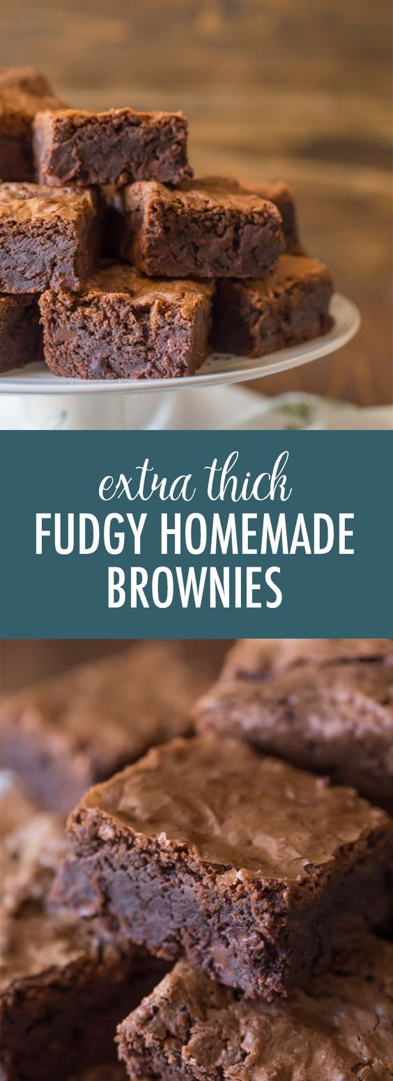 EXTRA THICK AND FUDGY HOMEMADE BROWNIES