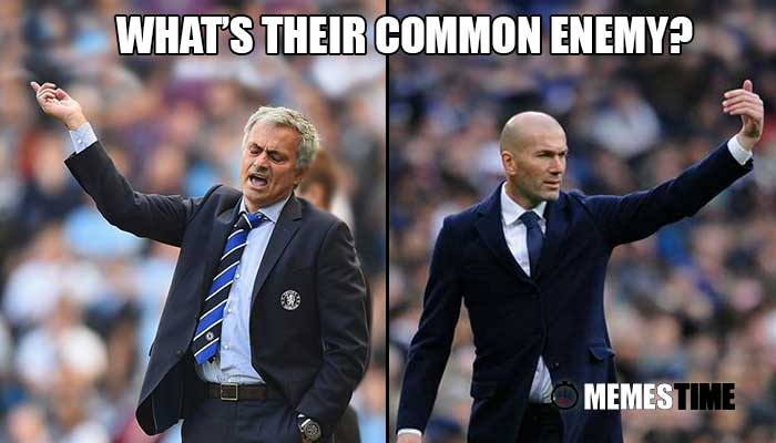 Memes Time - José Mourinho e Zinedine Zidane - What´s their common enemy?